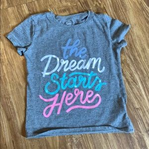"""Girl old navy """"the Dream starts here"""" tee"""